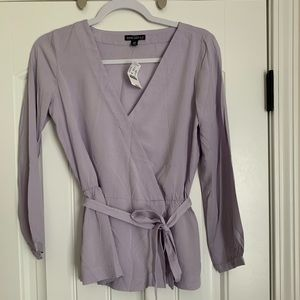 00 lavender j crew top. New with tags.